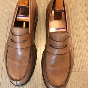 JOHN LOBB CAMPUS Brown Leather Mens Loafer- SZ 7.5